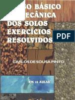 curso básico de mecânica dos solos (exercícios resolvidos) - carlos de sousa pinto - livro completo