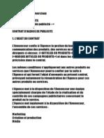 Contrat Publicitaire Agence-Marque