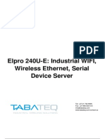 Elpro 240U-E Industrial WIFI Wireless EthernetSerial Device Server User Manual