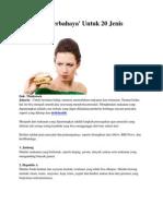 Makanan 'Berbahaya' Untuk 20 Jenis Penyakit