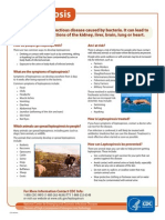 LEPTOSPIROSIS - Fact Sheet