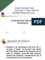 Rep Post Oper Cemento Dentro Liner 7 Pozo MGB49