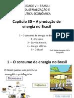 Capítulo 30 - A produção de energia no Brasil