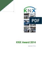 KNX Award 2014 Application Terms English
