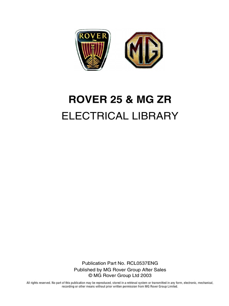 City Rover Wiring Diagram Trusted Diagrams 114 36533430 25 Mg Zr Electrical Library Stereo