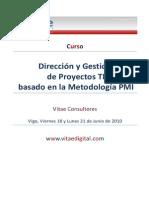 Curso Direccion y Gestion de Proyecto TI Metodologia PMI