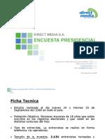 Encuesta_directmedia Presidencial Sept 2009