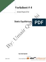 4. Static Equilibrium