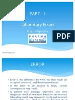 Laboratory Errors in Analytical Laboratory