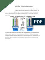Ethernet Cable - Color Coding Diagram