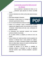 Norme de Protectia Muncii in Laboratorul de Chimie