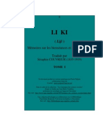 Les Cinq Classiques - IV - Le Livre des Rites (Lǐ Jì). - Tome I