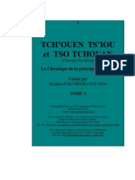 Les Cinq Classiques - V - Les Annales des Printemps et Automnes (Chūn Qiū), ou Annales du pays de Lu - Tome I