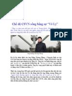 """Chế độ CSVN sống bằng sự """"Vô Lý"""""""