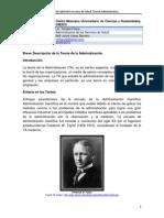 Breve Descripción de la Teoría de la Administración