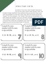 Series Task Cards