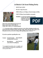 Great Neusiok District Spring Fishing Derby Flyer, Registration & Rules
