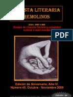 Revista Literaria Remolinos 40 (Edición de aniversario)