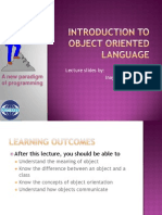 Introduction to Object Oriented Language