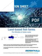 Bernoulli Filter Application Sheet - Land-Based Fish Farms