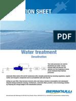 Bernoulli Filter Desalination Application Sheet