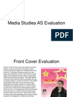 media studies as evaluation finish