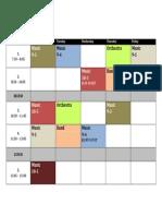 HS Music Schedule 2012-2013