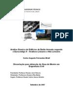 Análise sísmica de edifícios de betao armado segundo o eurocodigo 8