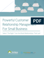 Customer Relationship Management Small Business