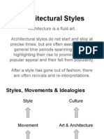 Architectural Styles, Movements and Ideologies