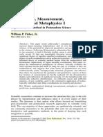 Mathematics, Measurement, Metaphor and Metaphysics I