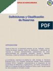 Definiciones y Clasificacion de Reservas
