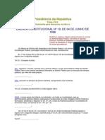 emendas constitucionais nº19, 20, 41 e 47