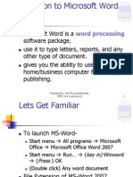 MS Word Introduction