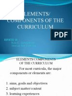 Elements Components of Curriculum__xxx
