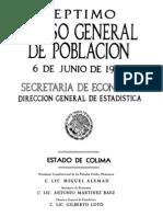 Censo 1950 Colima