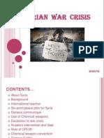 Syrian War Crisis