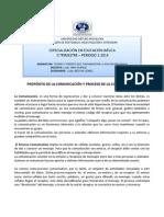 PROPÓSITO DE LA COMUNICACIÓN Y PROCESO DE LA COMUNICACIÓN