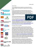 European vapers' letter to Martin Schulz En