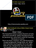 1st Quarter 2014 Lesson 6 Discipling the Ordinary Powerpoint Show