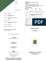 BUDGET  TAX SEMINAR 2013 Programme 11 - Harare.doc