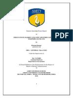 Hemant+Kumar+MBA G+Summer+Internship+Project+Report+2012