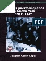 Pioneros Puertorriquenos en Nueva York, 1917-1947 by Joaquin Colon