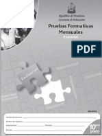 Prueba Formativa 10º Español (2010)