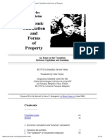 Economic Calculation and Forms of Property