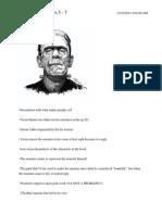 Frankenstein Chapters 5 Through 7