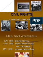 civil rights timeline powerpoint