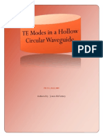 TE Modes in a Hollow Circular Waveguide