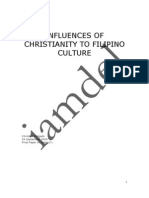 Influences of Christianity to Fil Culture