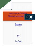 Estatística Descritiva 2013